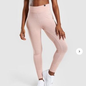 Gymshark Time-Out Knit Joggers in blush nude xs